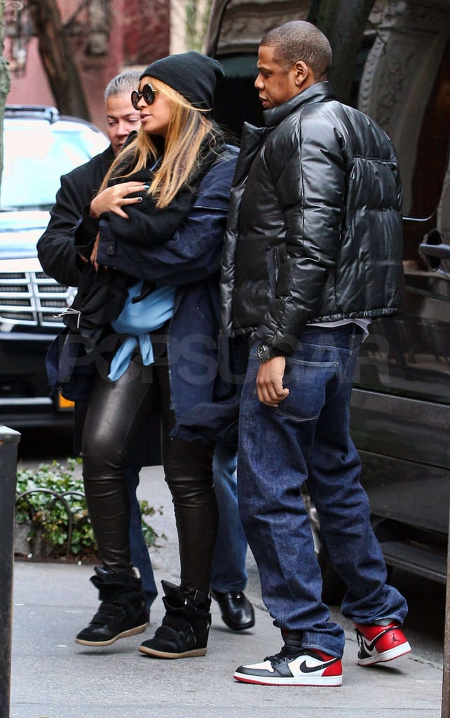 Beyoncé Knowles carried Blue Ivy Carter to a lunch date with Jay-Z.