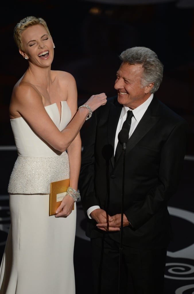 Charlize Theron and Dustin Hoffman Present Together