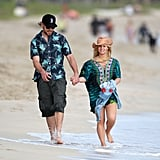 Pregnant Jessica Simpson on the Beach in Hawaii
