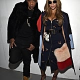 Jay Z and Beyoncé posed backstage together at Kanye West's show.