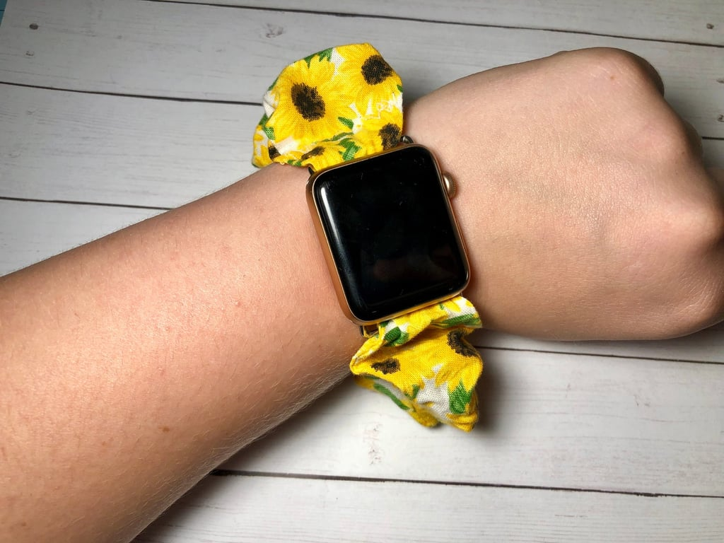 Sunflower Scrunchie Watch Band