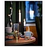 Vinterfest Gold Tealight Lantern