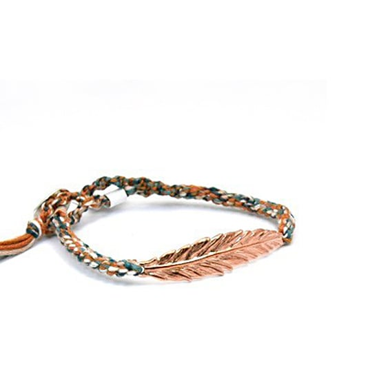 Chan Luu Rose Gold Feather Bracelet, $138