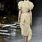 The edgy, yet feminine, Spring look was spotted on the Rodarte catwalk just a few short weeks ago!