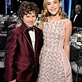 Mad Men's Kiernan Shipka and Modern Family' s Nolan Gould met up at the show.
