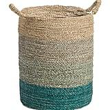 Ombre Seagrass Storage Bin ($17)
