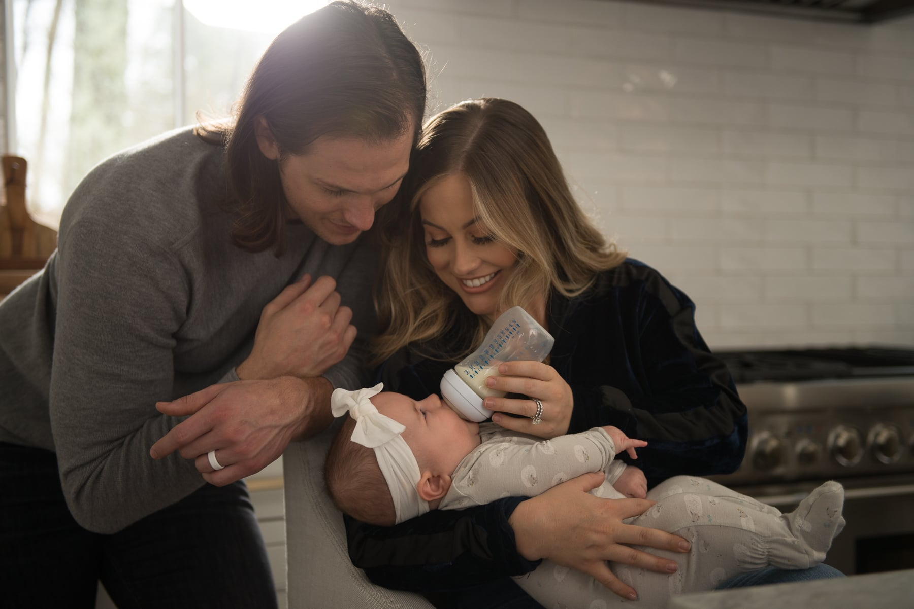 """Shawn Johnson Says Moms Should Never """"Feel Guilty"""" About Formula Feeding — Amen!"""