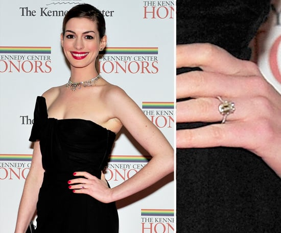 Anne Hathaway Celebrity Engagement Ring Pictures POPSUGAR