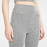 Gingham Ponte Bike Shorts