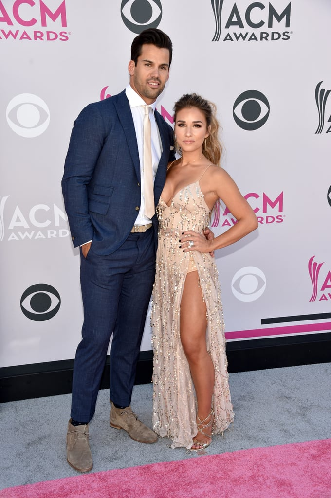 Jessie James Decker stuns on the red carpet wearing the sheer abyss by abby casino royale gown