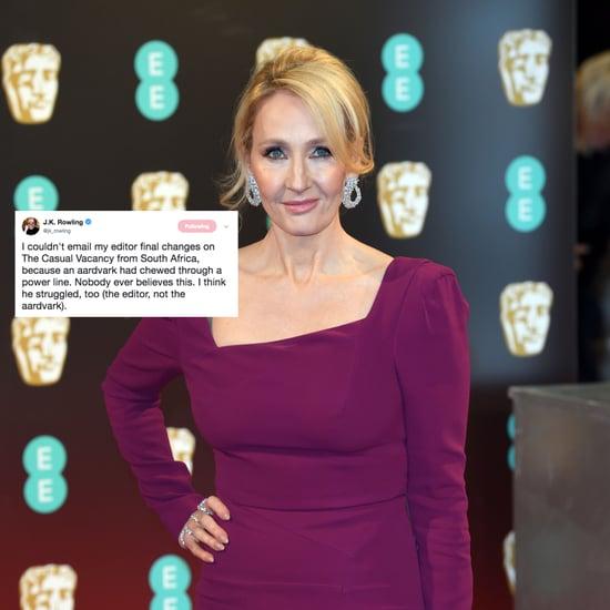 J.K. Rowling Tweet About an Aardvark March 2018