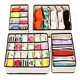 Zimtown Set of 4 Foldable Under Bed Organizers