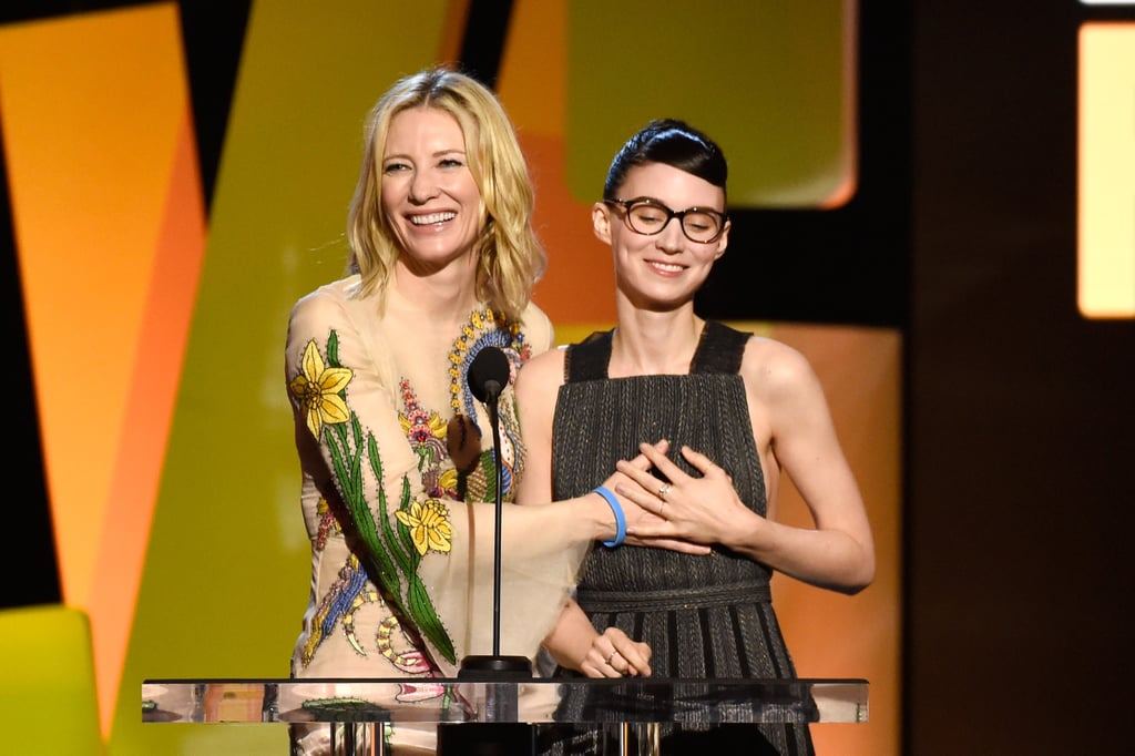 """Just a day before the Oscars, the Spirit Awards swept threw Santa Monica, CA, and with it came a slew of fun moments. From Rachel McAdams's red carpet arrival to Jacob Tremblay's """"aw""""-inducing night, there was plenty to talk about. Plus, who could forget Mya Taylor's historic win? Read on to see more highlights from the star-studded evening, and then relive the Carol spoof that had Cate Blanchett dabbing away tears of laughter."""