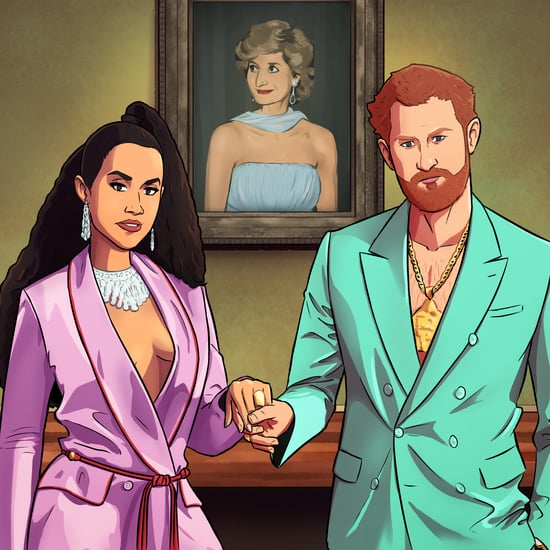 Prince Harry and Meghan Markle as Beyoncé and JAY-Z Artwork