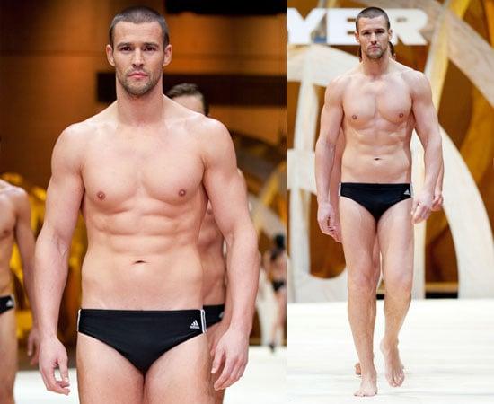 Pictures of Dannii Minogue's Boyfriend Kris Smith Shirtless in Speedos on Catwalk in Sydney