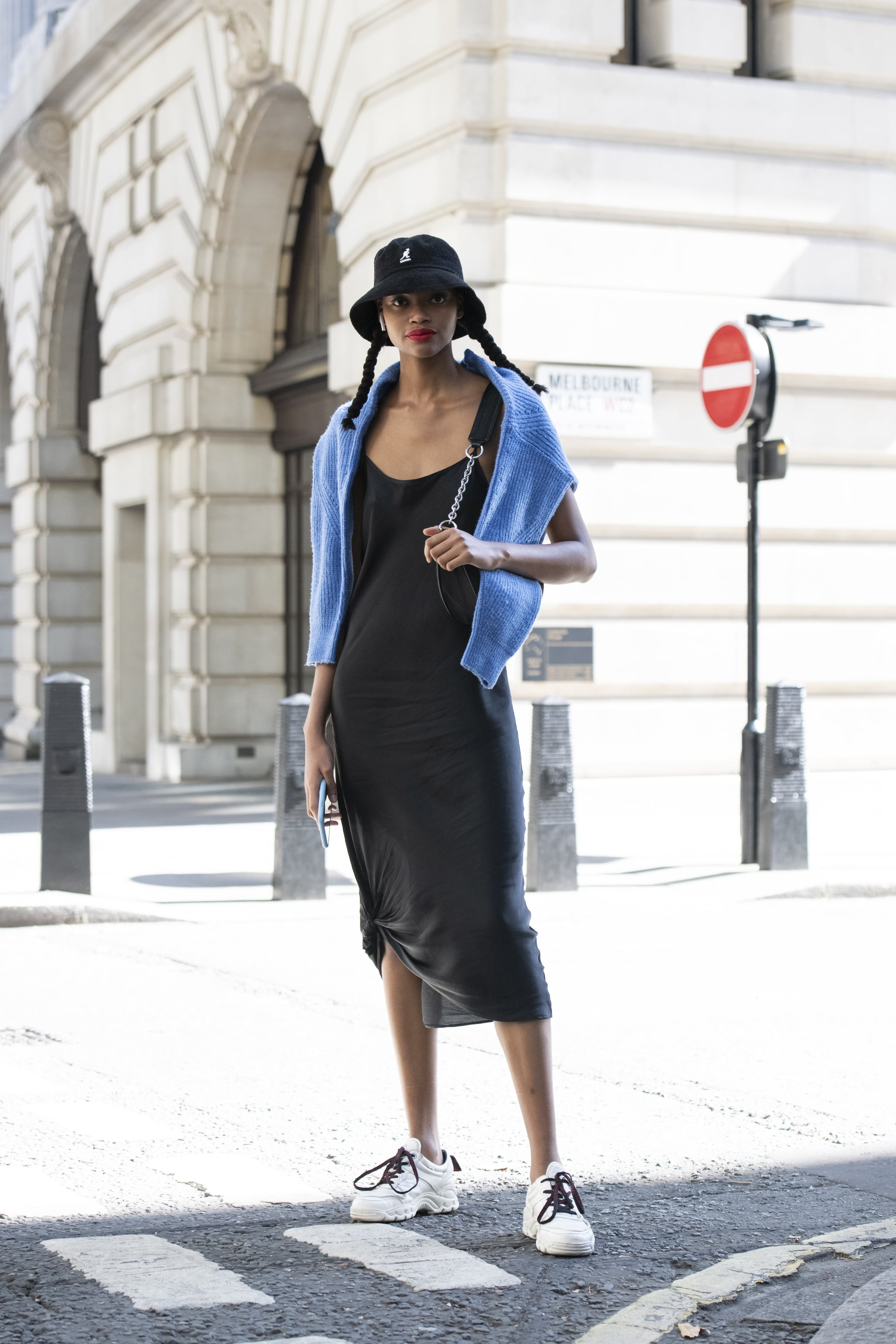 How to Wear a Slip Dress With Sneakers