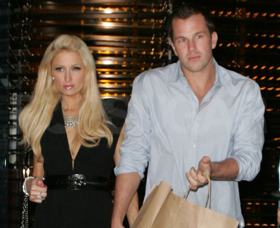 Slide Photo of Doug Reinhardt and Paris Hilton Grabbing Dinner in LA