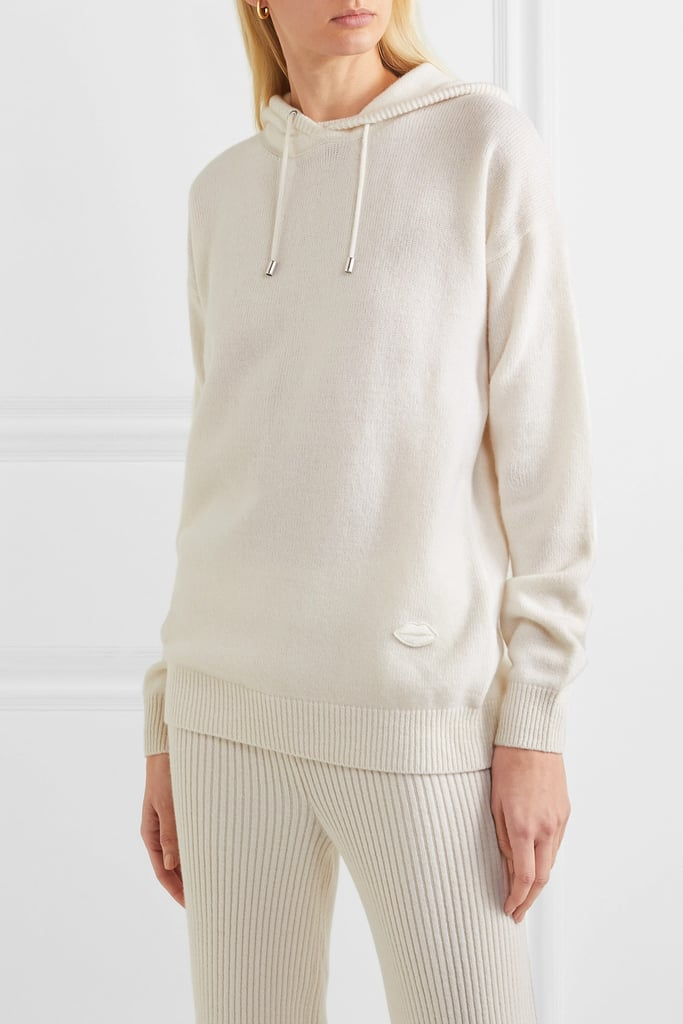 Markus Lupfer Immy Appliquéd Wool and Cashmere-Blend Hoodie