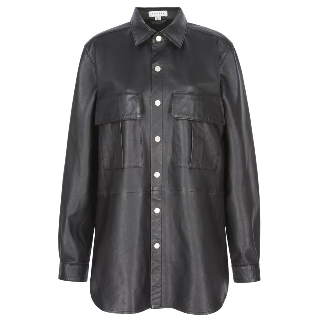 Topshop Leather Over-Shirt