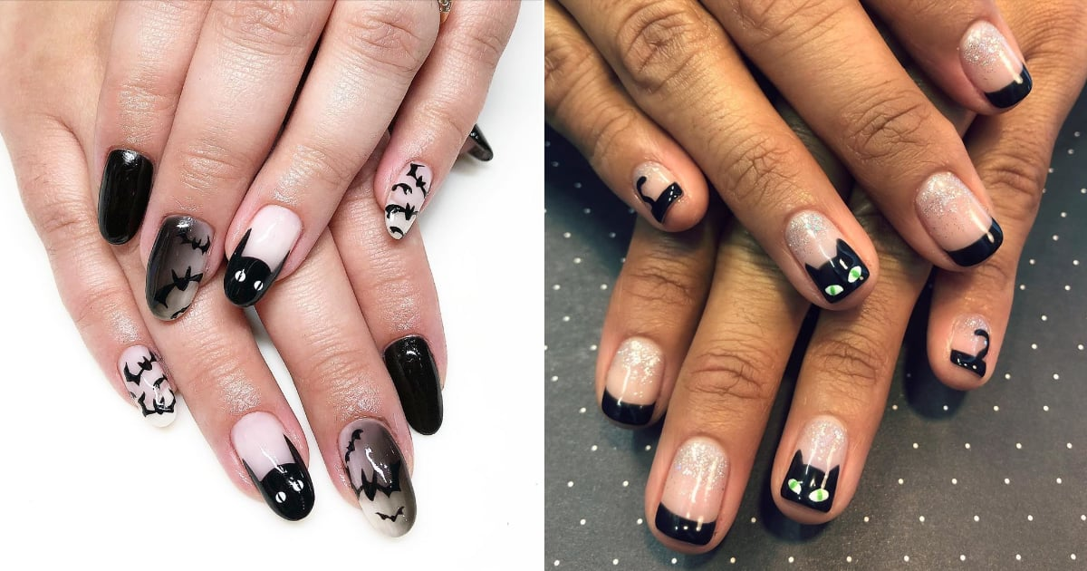 23 Black-Cat Halloween Nail-Art Designs | POPSUGAR Beauty
