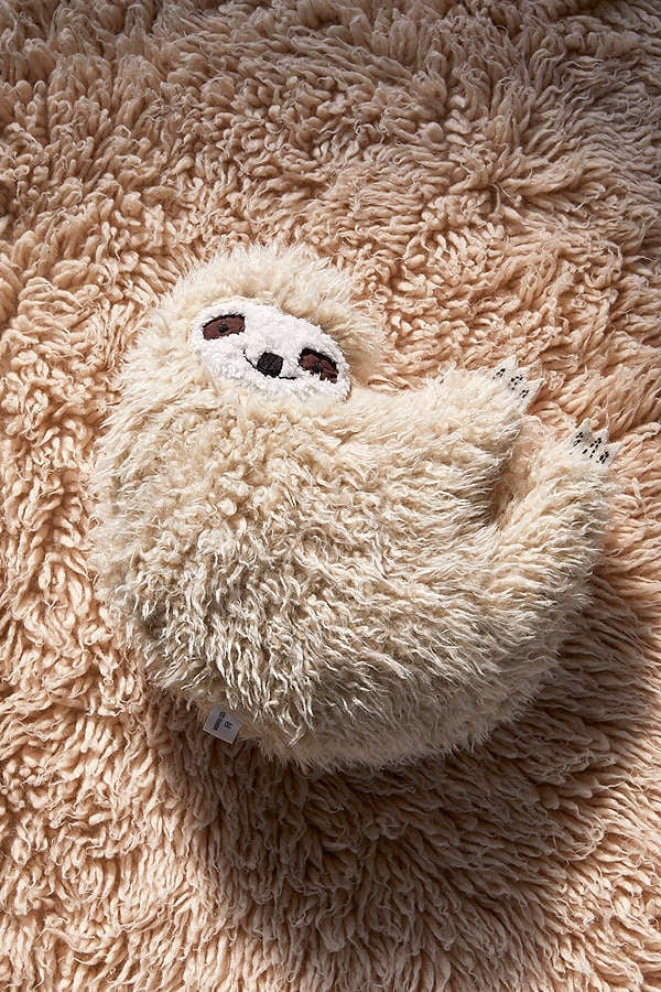 Urban Outfitters Furry Sloth Pillow