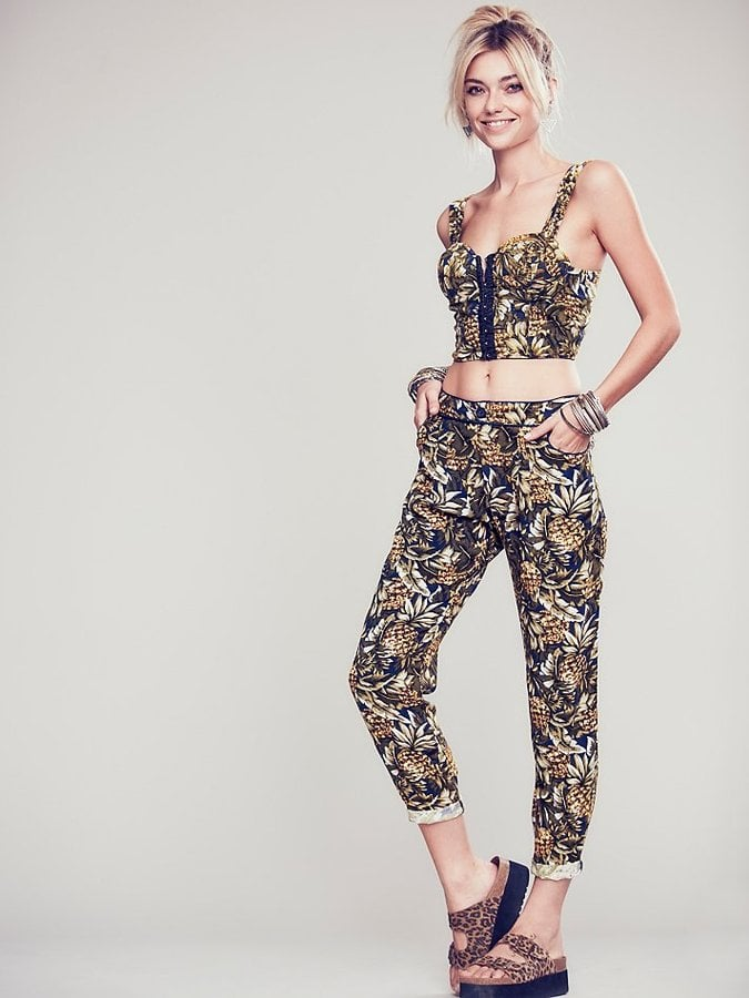 Free People Pineapple Bustier and Pants