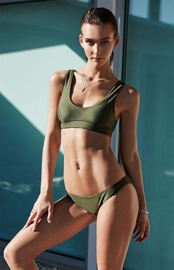 LA Hearts Cropped Bikini Top