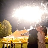This country wedding lit up the skies of Door County, Wisconsin, with its bright fireworks.