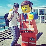 Darren McMullen bumped into an old mate at Bondi Icebergs. Source: Instagram user darrenmcmullen