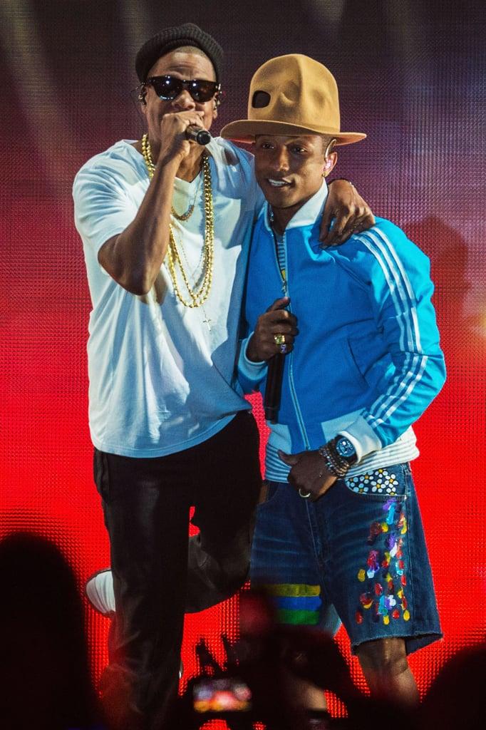 Pharrell performed with Jay Z.