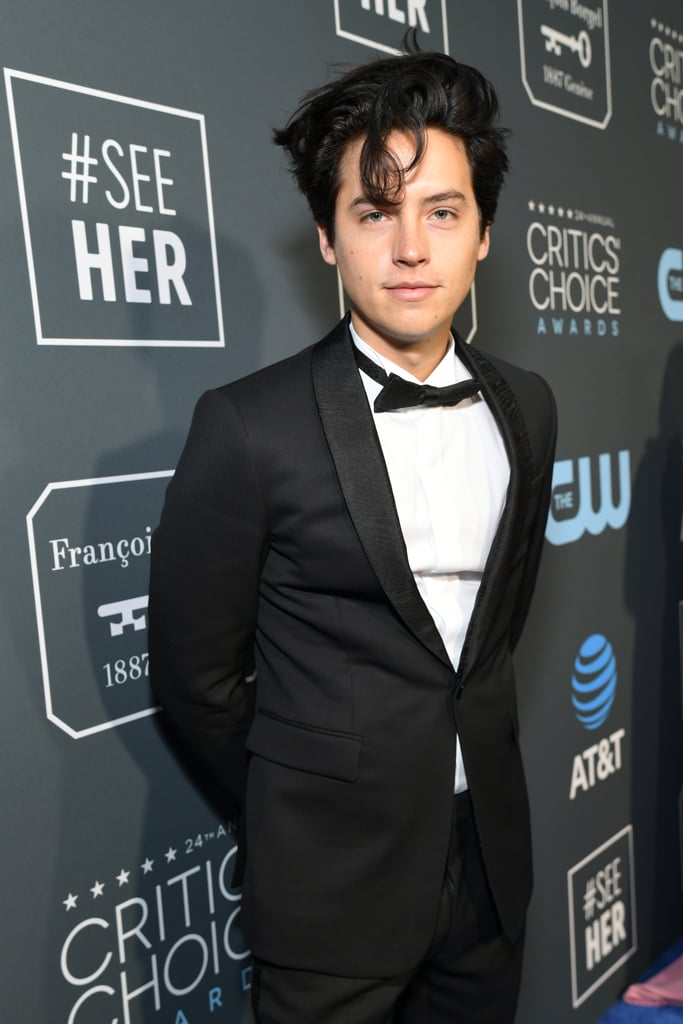 Cole Sprouse was the epitome of cool and casual when he attended the Critics' Choice Awards on Sunday night. The Riverdale actor, who presented during the show, gave us major Jughead Jones vibes as he walked the blue carpet in a tux and his signature disheveled locks — seriously, that hair, though. After smoldering up a storm, the 26-year-old flashed a few smiles for the cameras as he posed with his Five Feet Apart costar Haley Lu Richardson.       Related:                                                                                                           Bask in All the Angsty Hotness of Riverdale's Cole Sprouse