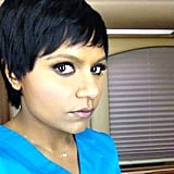 Kaling showed off her fake cropped 'do for the show. Source: Instagram user mindykaling