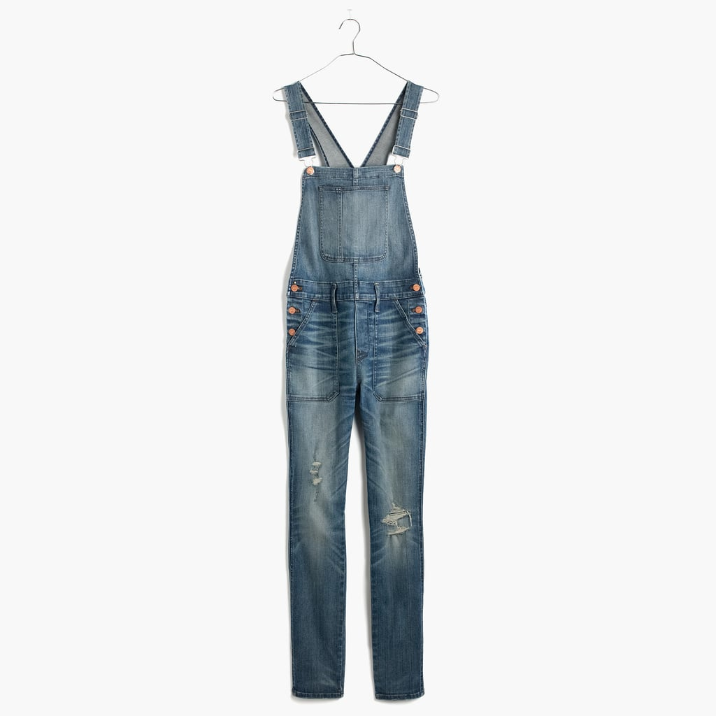 Madewell Skinny Overalls in Adrian Wash ($158). Run from size XXS-XL.