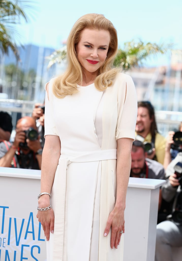 Nicole Kidman wore a white Altuzarra dress to a photocall for Grace of Monaco.