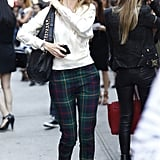 Tartan plaid pants set this take on easy separates apart from the crowd. Source: Greg Kessler