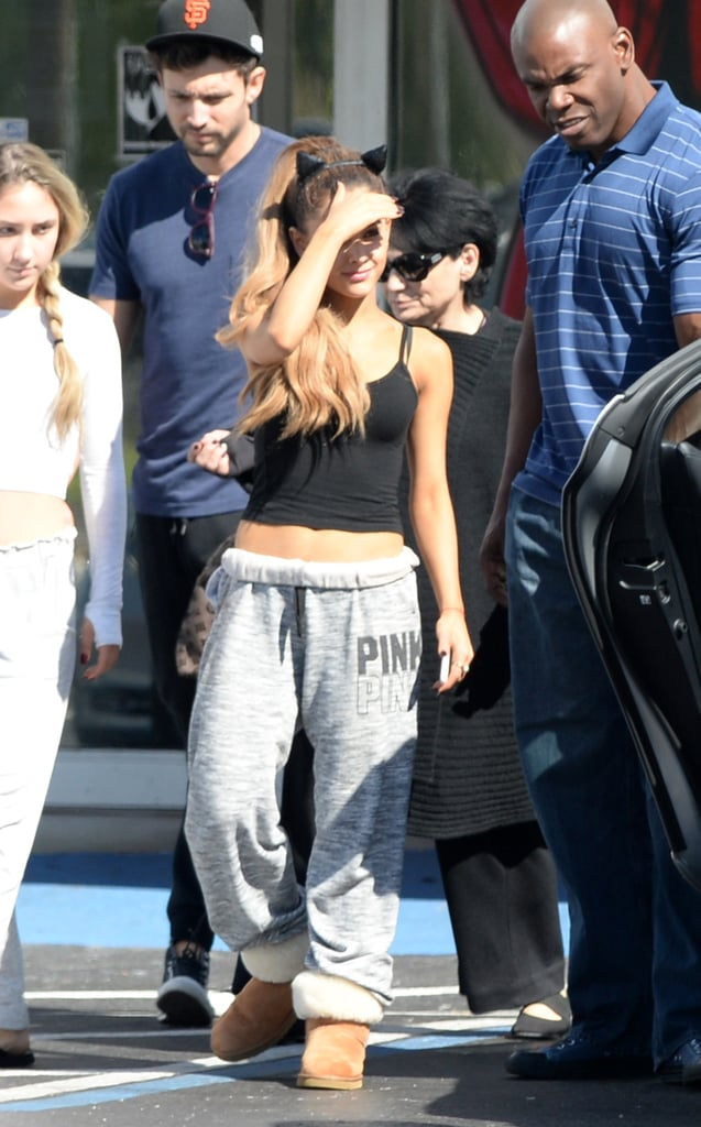 Ariana Grande went shopping for a Halloween store in her hometown of Boca Raton, FL, on Wednesday.