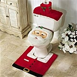 Mosuch Santa Toilet Seat Cover and Rug Set