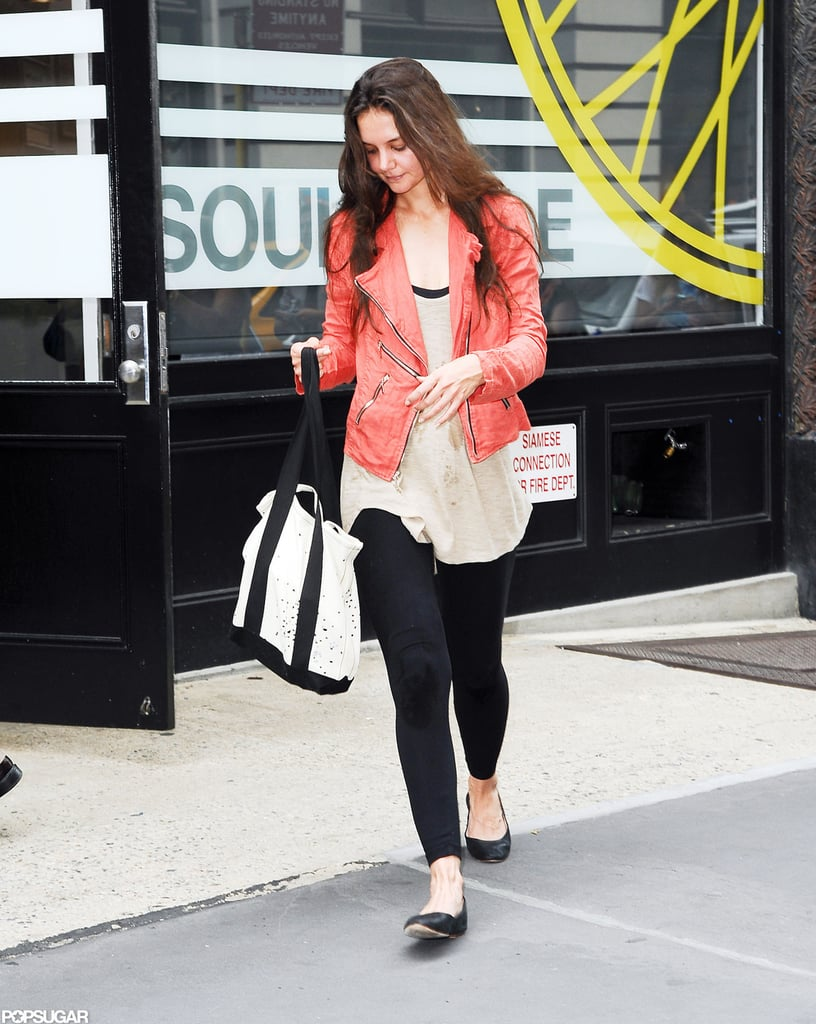 Katie Holmes exercised in NYC.