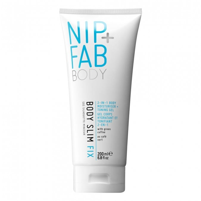 Massage this caffeine and cocoa butter infused formula into problem areas to feel the tingling, toning affects.  Nip+Fab Body Slim Fix ($27.99)