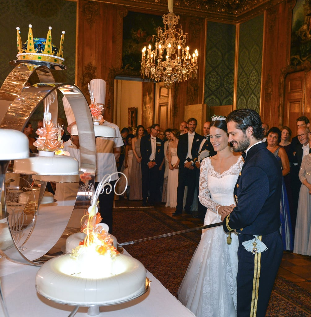 When They Cut The Cake — With A Sword!