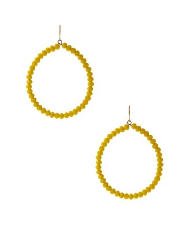 Yochi Design Round Hoop in Yellow ($40)