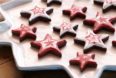 Shortbread Stars with Royal Icing