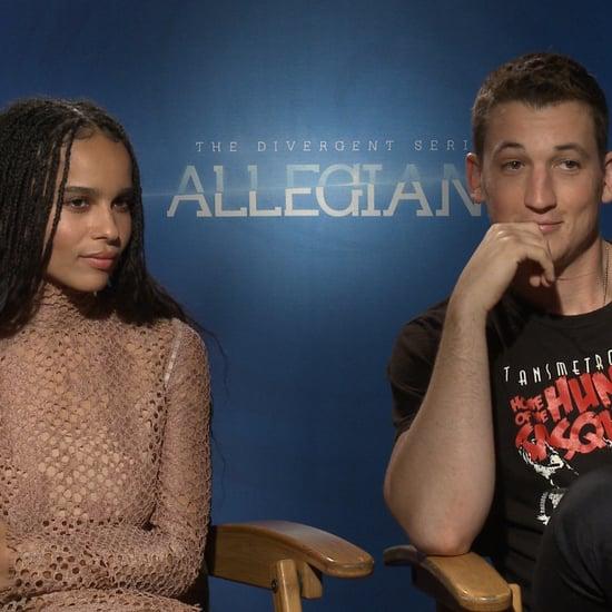 Zoe Kravitz and Miles Teller Talking About Allegiant