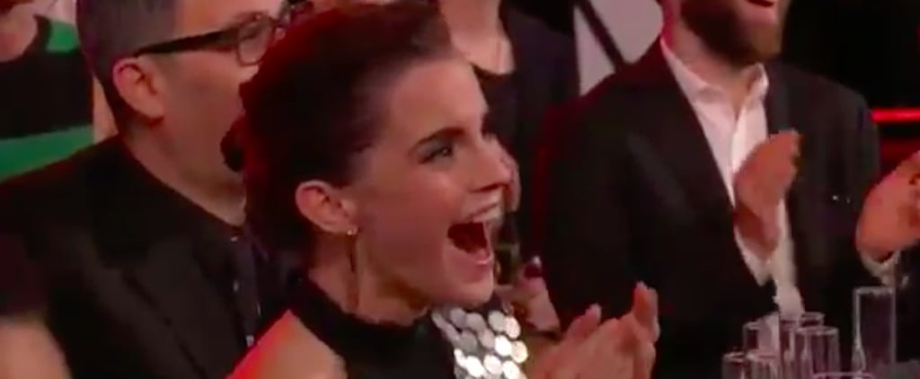 Emma Watson Had the Sweetest Reaction to the MTV Awards's Beauty and the Beast Opener
