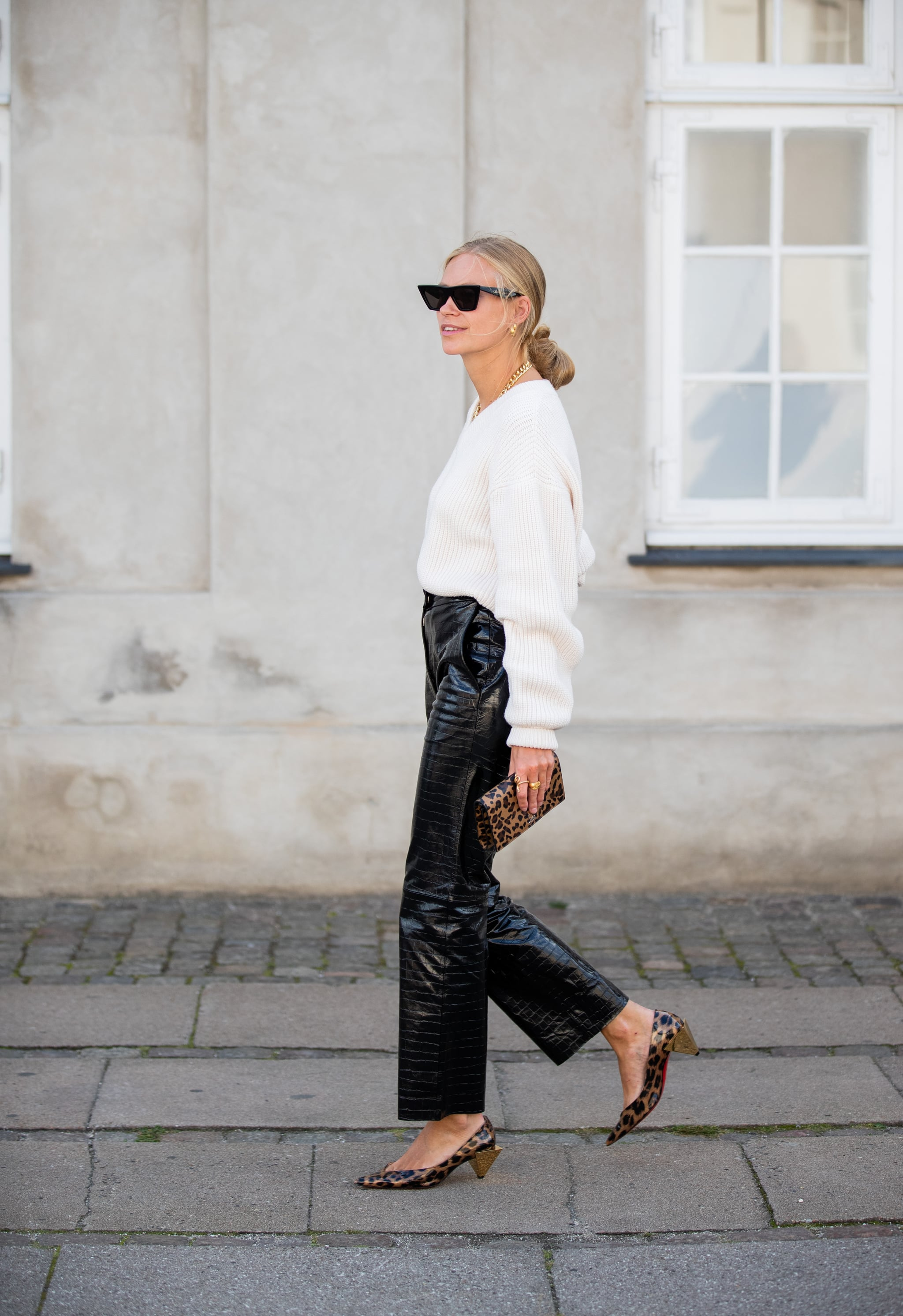 Fall Outfit Idea: Leather Pants +