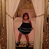 Arabella Kushner looked like the princess with the pea during her visit to Mar-a-Lago in Florida during Winter break. Source: Instagram user ivankatrump