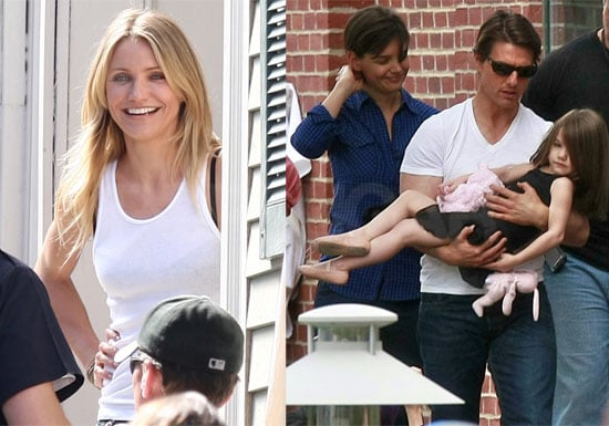 Photos of Cameron Diaz Outside of Her Trailer on Wichita Set in Boston, with Tom Cruise, Katie and Suri on Set