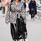 Coordinate 2 Leopard Prints of Varying Size —Break Them Up With a Plain Skirt