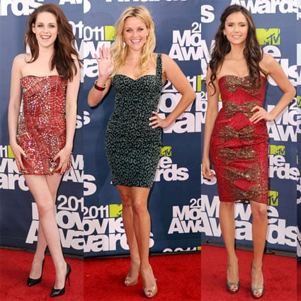 Pictures of All the Ladies and Dresses From the 2011 MTV Movie Awards Red Carpet