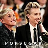 Ellen DeGeneres and Portia de Rossi at the 2020 Golden Globes